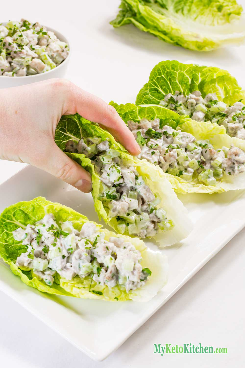 Keto Chicken Salad Wraps