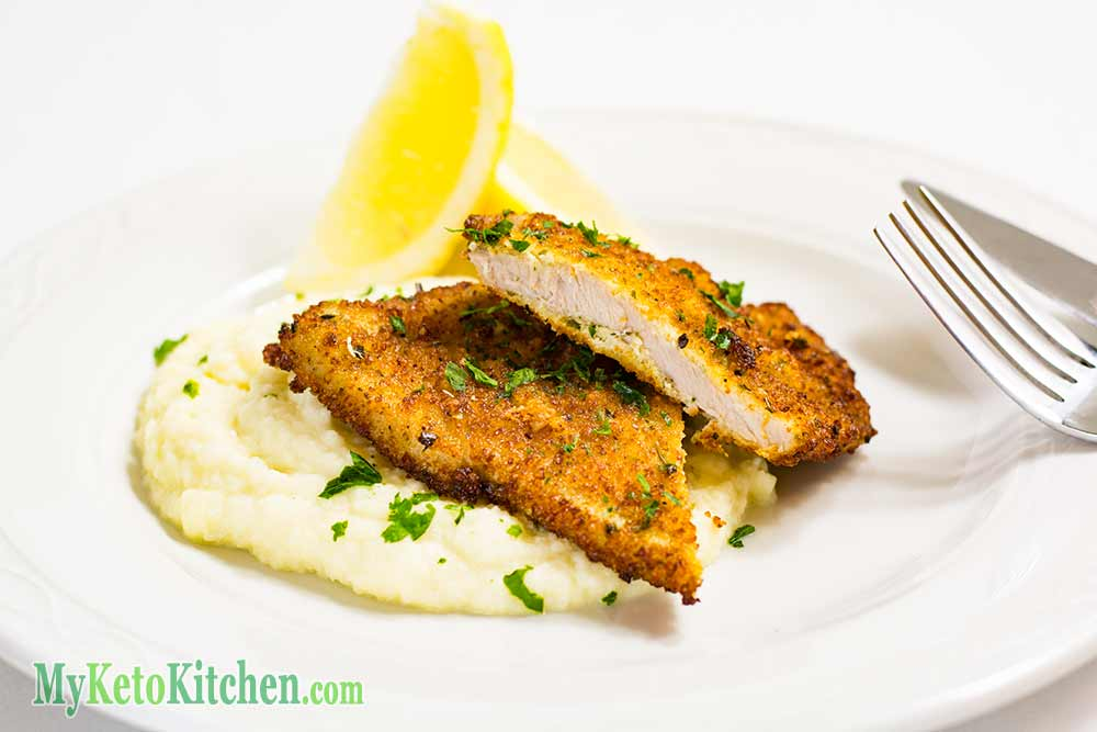 Low Carb Pork Schnitzels Parmesan Herb Ingredients