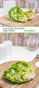 Low Carb Avocado Egg Salad Wraps (Keto, Gluten Free, Vegetarian)