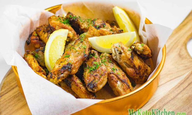 Crispy Low Carb Garlic Chicken Wings