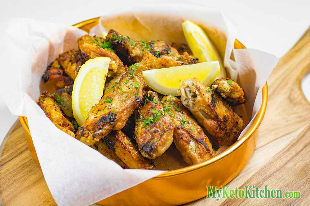 Easy To Make Crispy Low Carb Garlic Chicken Wings Step