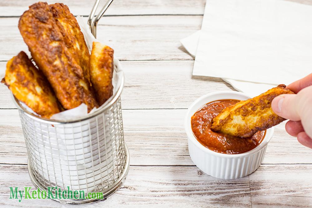 Keto Fries Haloumi Cheese