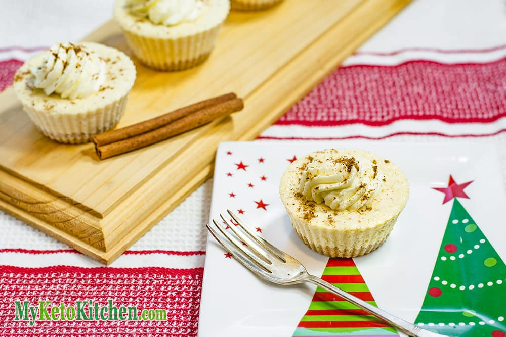 Keto Eggnog Cheesecakes Recipe - Tasty Christmas Treats