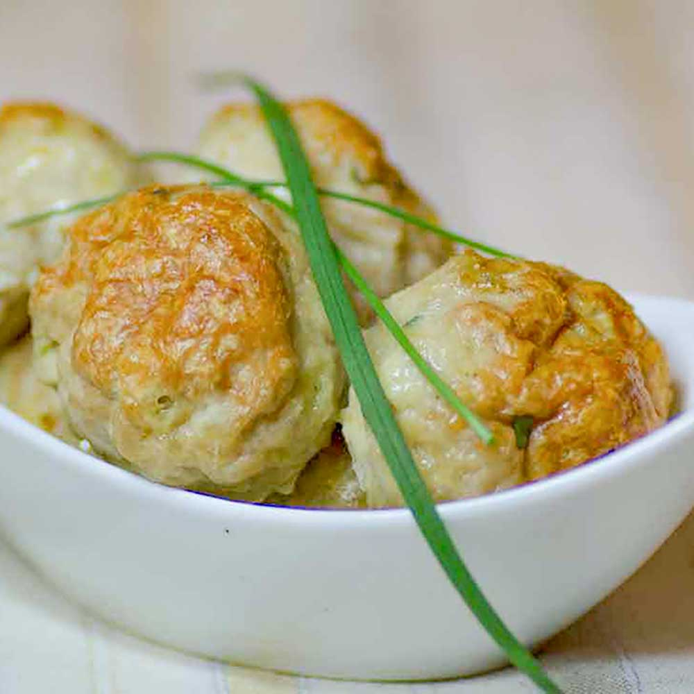 Low Carb Chicken, Cheddar and Chives Meatballs Recipe