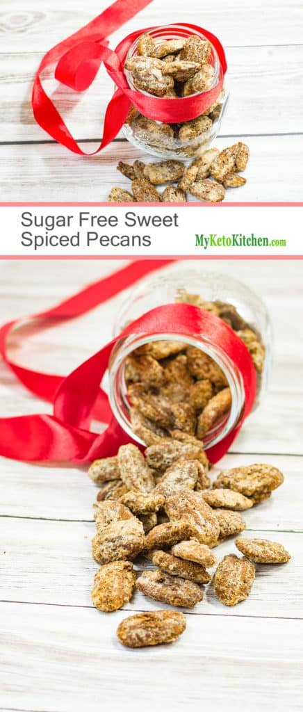 Sugar Free Sweet Spiced Pecans (Gluten Free. Grain Free, Keto, Low Carb)