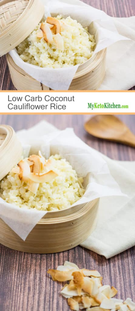 Low Carb Coconut Cauliflower Rice (Keto, Gluten Free, Dairy Free, Paleo)