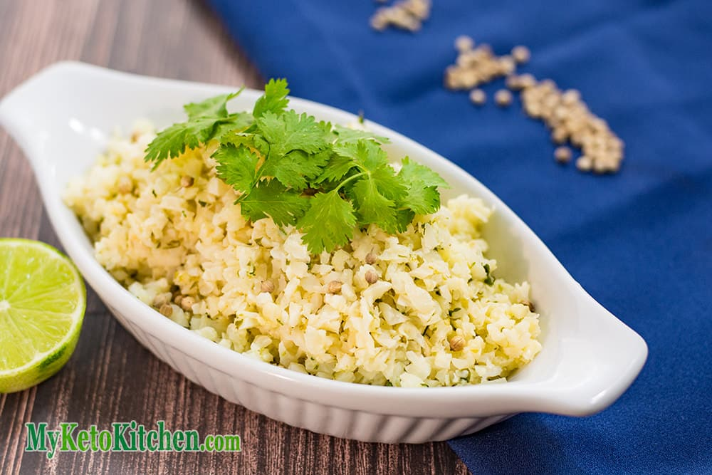 Low Carb Lime & Cilantro Cauliflower Rice