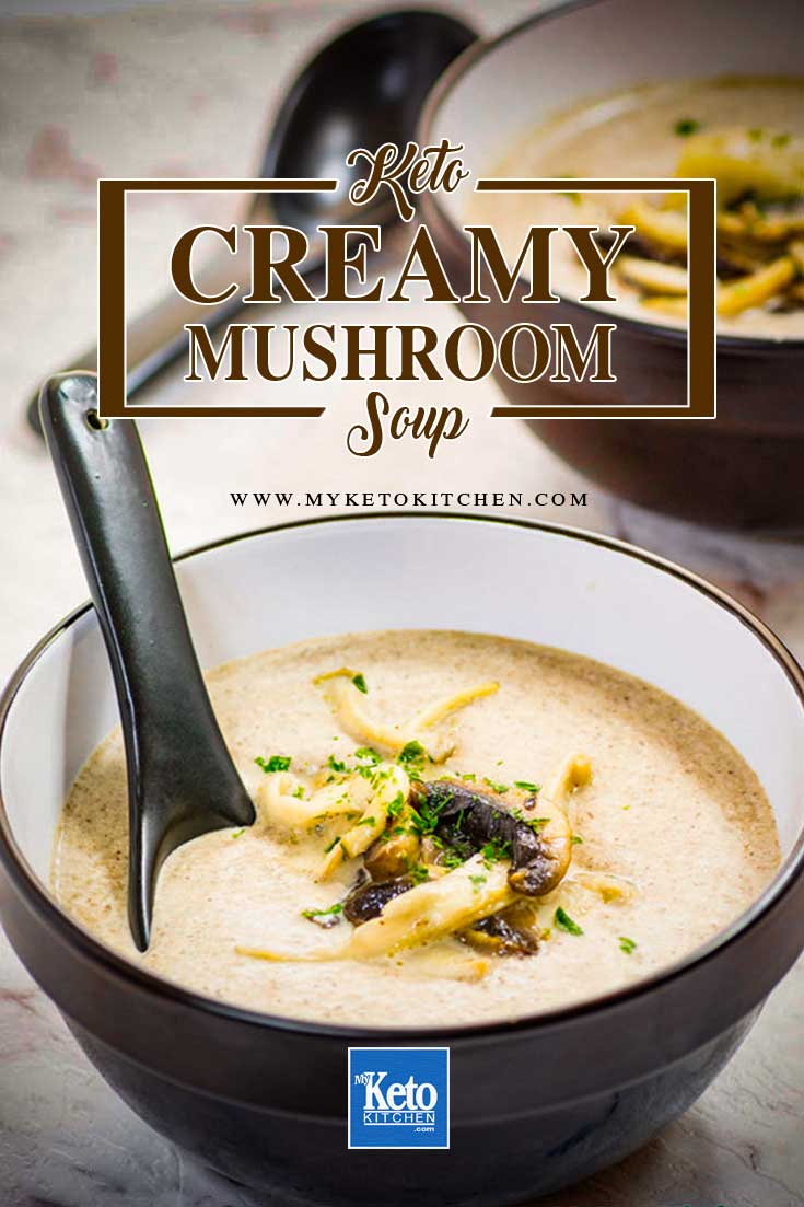 Keto Cream of Mushroom Soup Low-Carb Ingredients