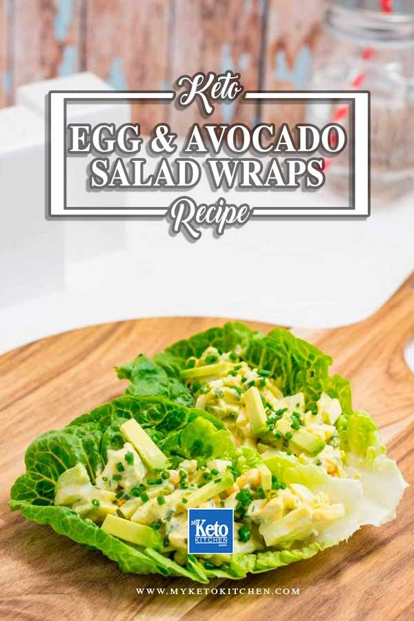 Keto Egg Salad Wraps With Avocado
