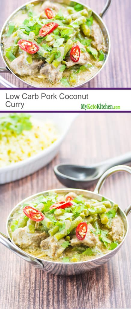 Fragrant Low Carb Pork Coconut Curry (Paleo, Keto, Gluten Free)