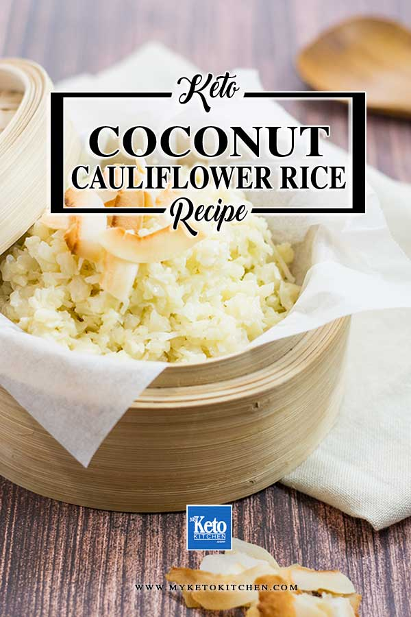 Keto Coconut Cauliflower Rice Recipe. This easy recipe is a great keto side dish, it's perfect to enjoy with curry, casseroles or stews.