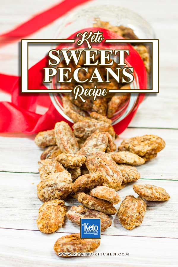 Sweet & sSpicy pecan nuts ready to eat