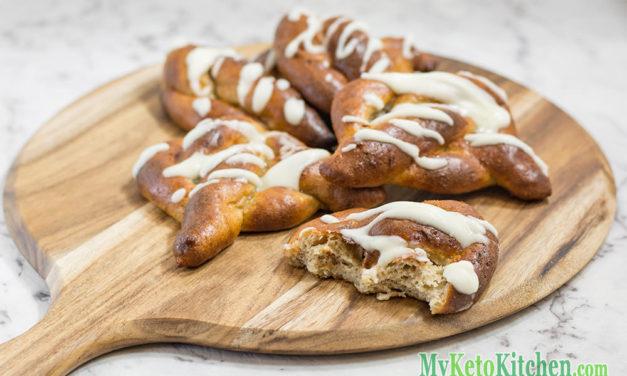 Low Carb Pretzels Recipe – Sweet Glazed & Soft – Like A Donut