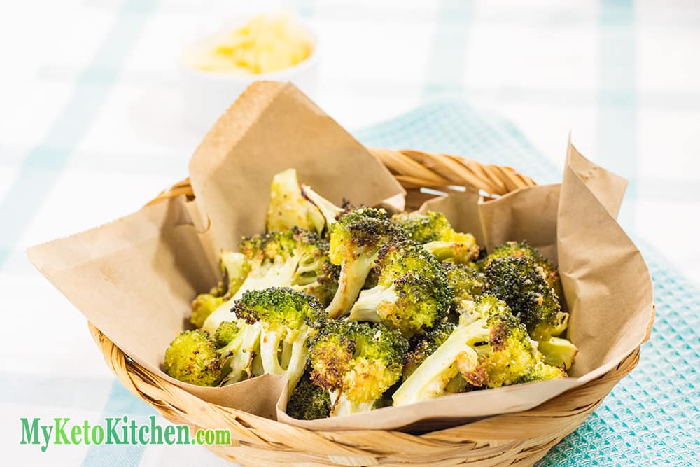 Keto Parmesan Roasted Broccoli Christmas Snack
