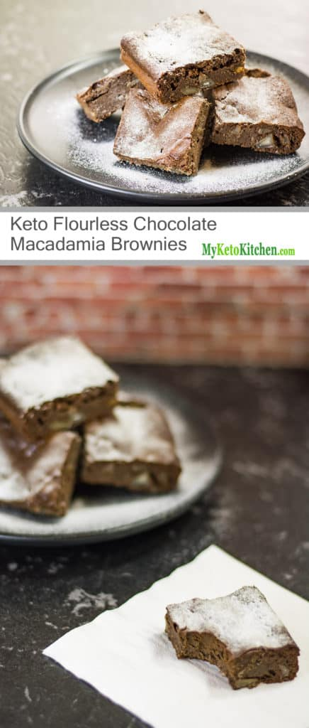 Sugar-Free Flourless Chocolate Macadamia Brownies