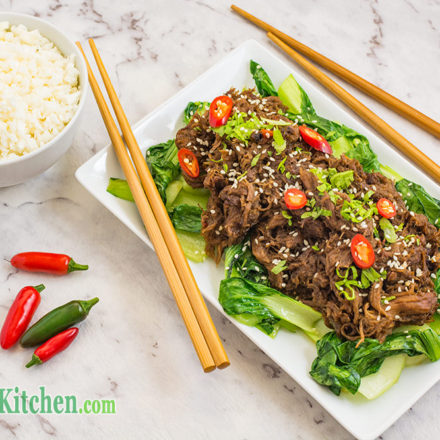 Asian keto shredded beef recipe