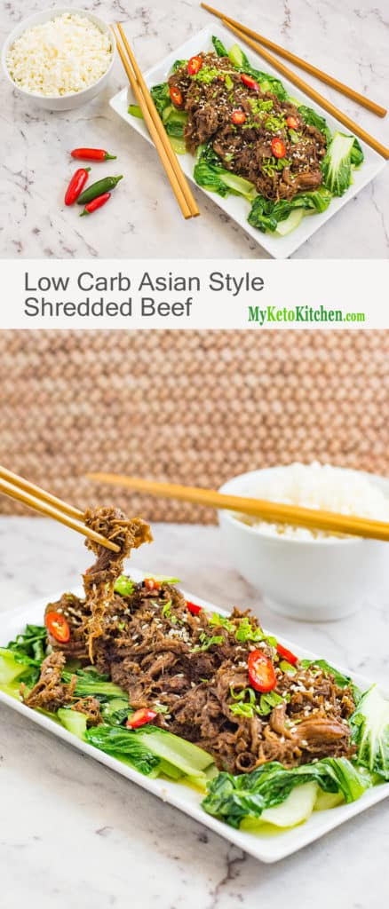 Low Carb Asian Style Shredded Beef (Gluten Free, Keto, Dairy Free)