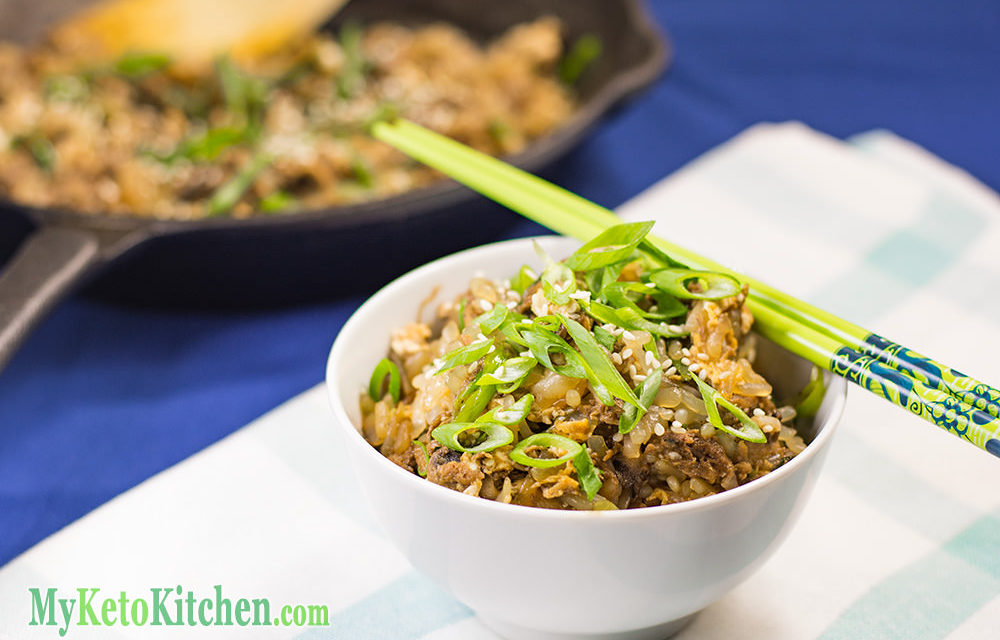 Keto Fried Rice with Asian Shredded Beef Recipe