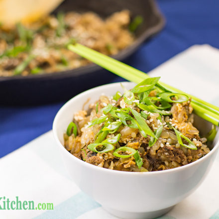 Low Carb Fried Rice with Asian Shredded Beef