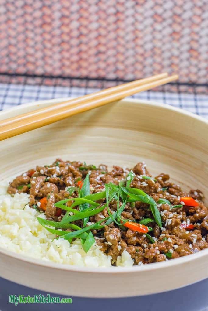 Sticky Korean Stir Fry Keto Ground Beef Recipe