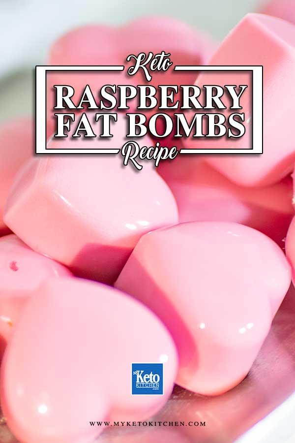 Keto Raspberry Cream Fat Bombs