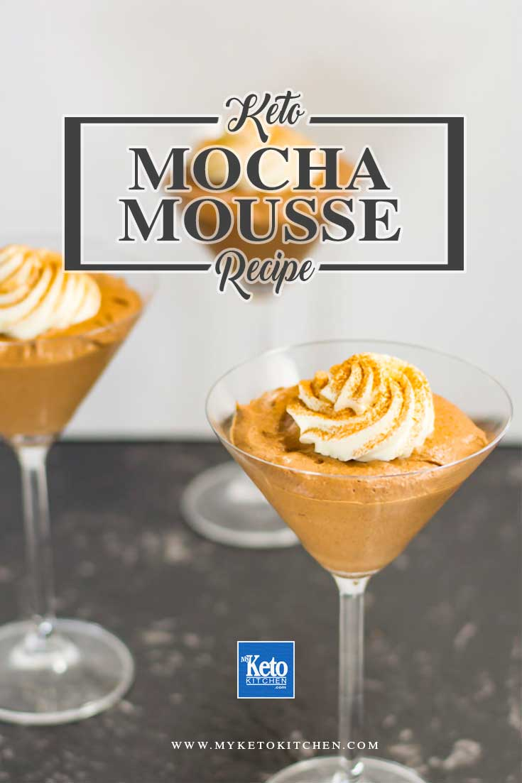 Keto Mousse Recipe Mocha Coffee with Chocolate