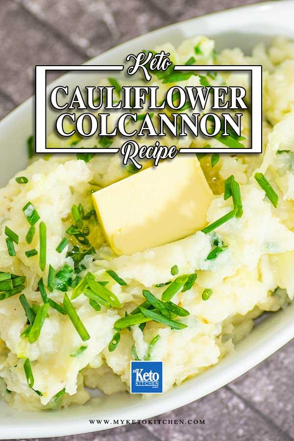 Low Carb Cauliflower Colcannon