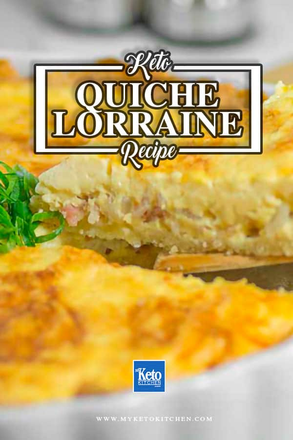 Keto Quiche Lorraine WIth Low-Carb Crust