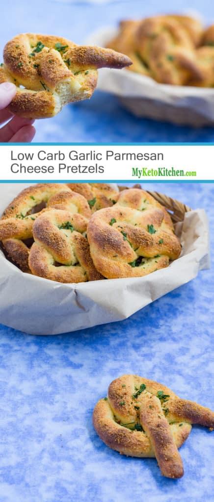 Low Carb Garlic Parmesan Cheese Pretzels (Gluten Free, Grain Free, Keto)
