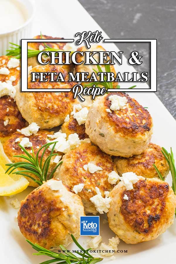 Keto Chicken and Feta Meatballs Recipe