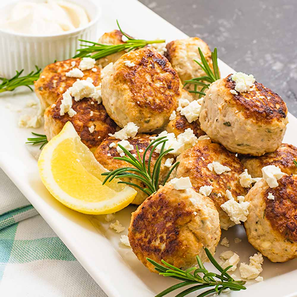 Keto Meatballs Recipe - Chicken & Feta