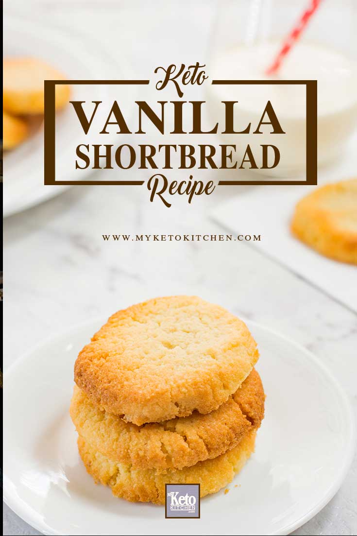 keto shortbread cookies recipe pin image