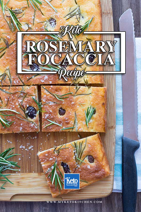 How to make Keto Rosemary & Olive Focaccia Bread - gluten free European recipe