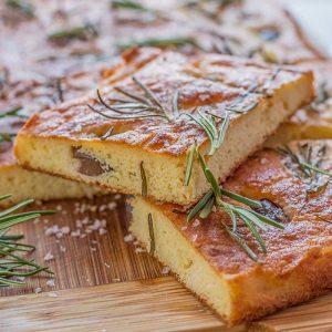 Keto Rosemary & Olive Focaccia Bread - gluten free European recipe