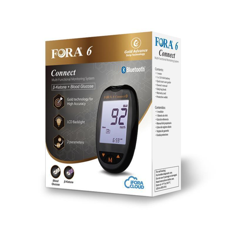 Fora 6 Bluetooth Blood Ketone Meter