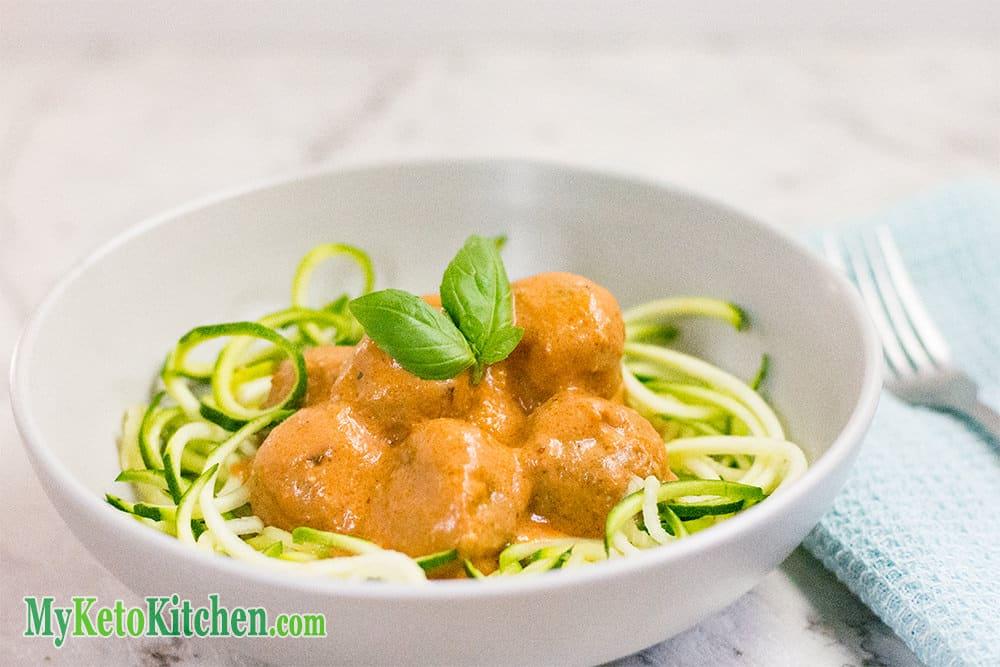Low Carb Italian Basil & Parmesan Meatballs