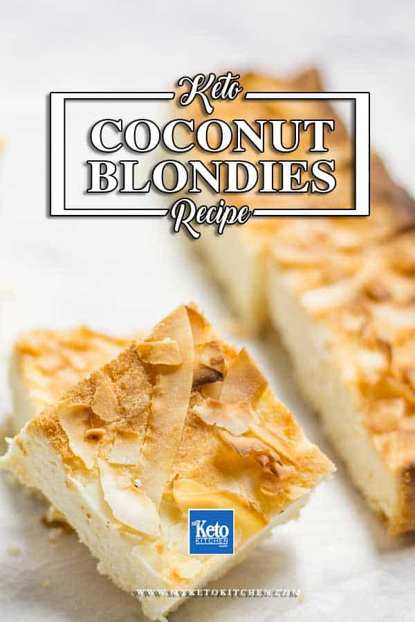 Keto Coconut Blondies Recipe