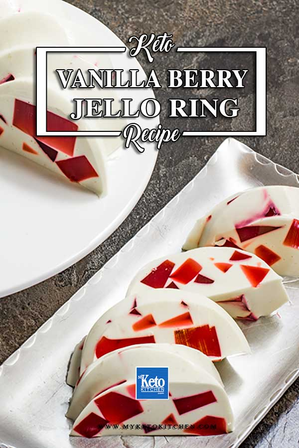 Keto Vanilla Berry Jello Dessert