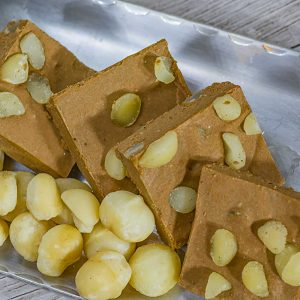 Low Carb Chocolate Macadamia Nut Fudge