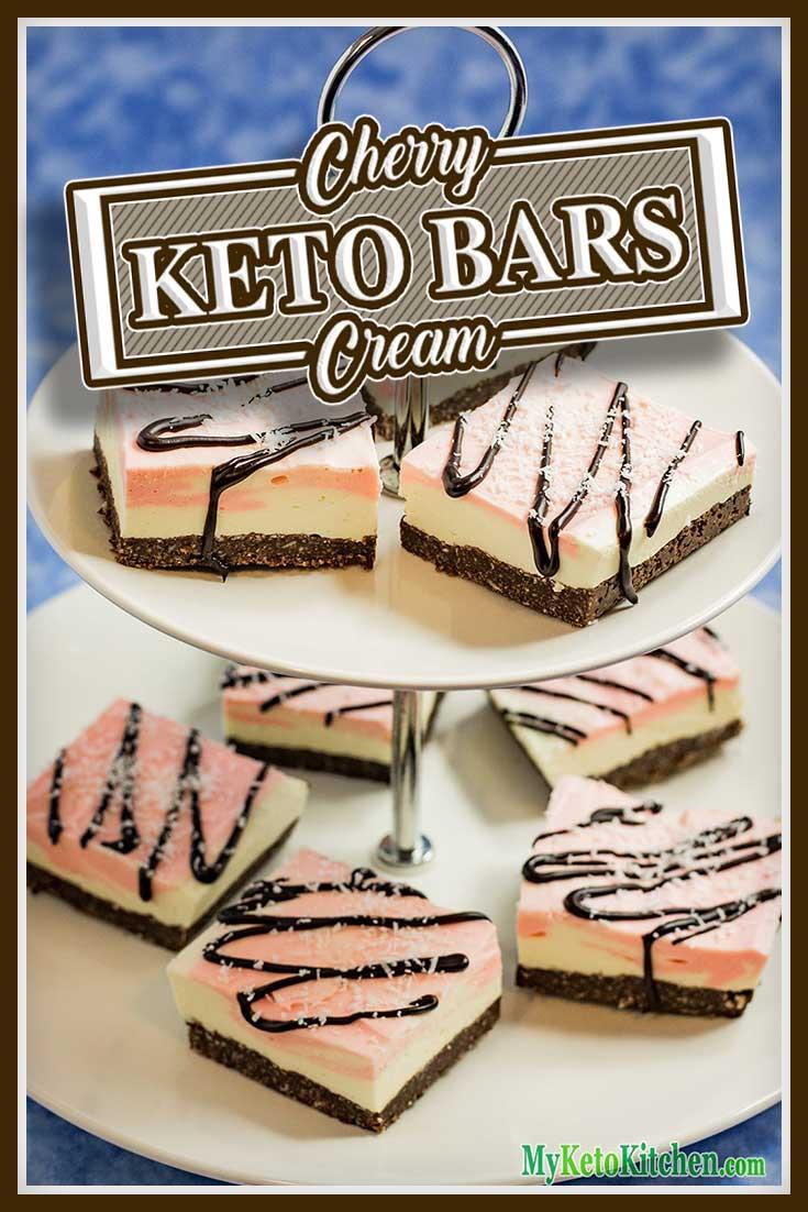 Keto Cherry Ripe Slice Recipe Chocolate Cookie Cream base