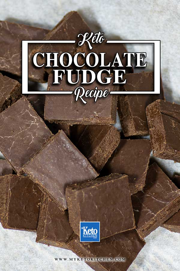 Keto Chocolate Fudge in a pile
