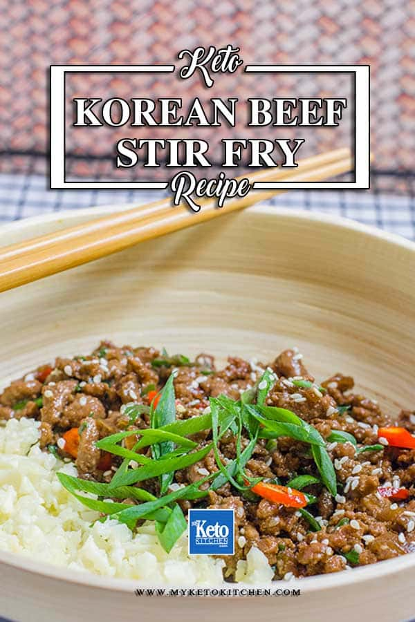How to make Keto Korean Sticky Ground Beef Stir Fry