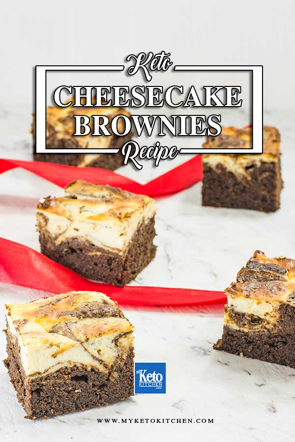 Keto Chocolate Cheesecake Swirl Brownies
