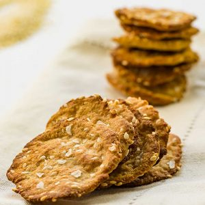 Keto Crackers Recipe - Sesame Sea Salt Flavor