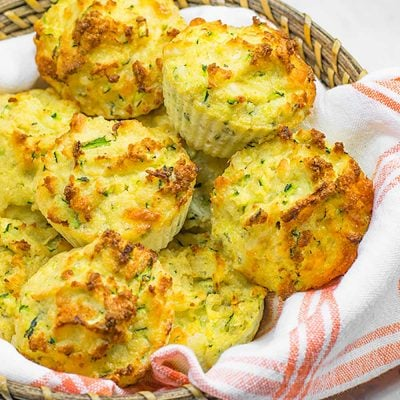 Keto Muffins Recipe – Low Carb Savory Cheddar Cheese & Zucchini
