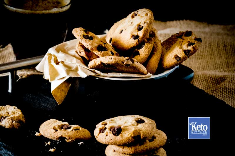 Keto Chocolate Chip Cookies - Simply Delicious - Chewy and Gluten Free