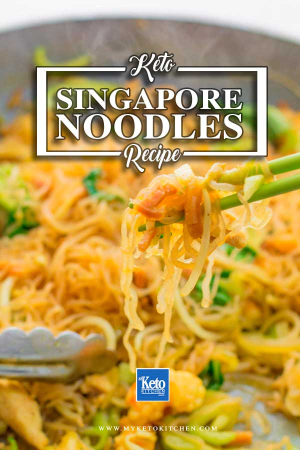 keto noodles recipe low-carb Singapore asian style