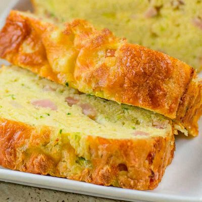 """Keto Zucchini Bread Recipe – Low Carb """"Bacon & Cheese"""" Loaf"""
