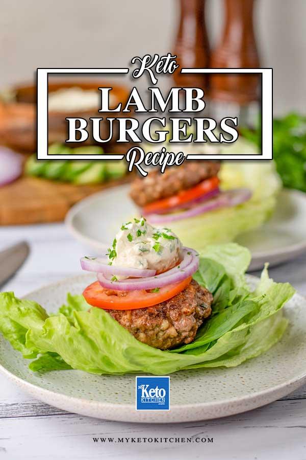 Keto Lamb & Halloumi Burgers
