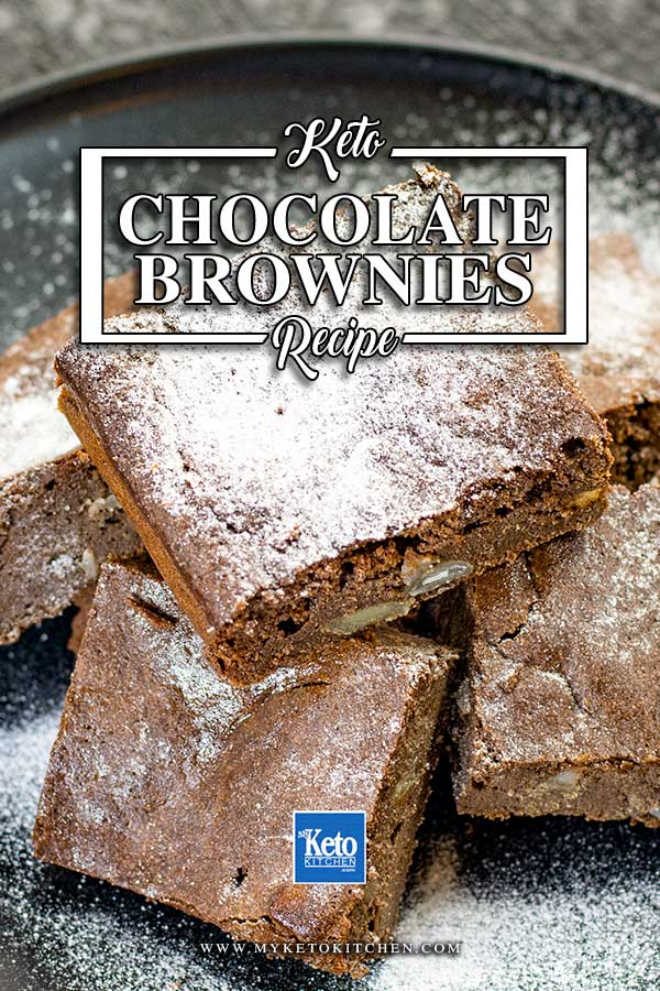 Low Carb Macadamia Brownies on a plate
